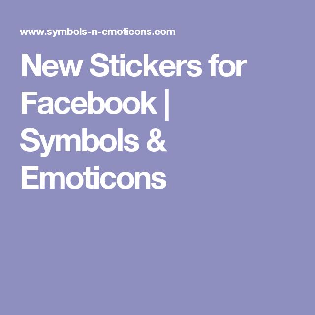 New Stickers For Facebook Symbols Emoticons Emojis Pinterest