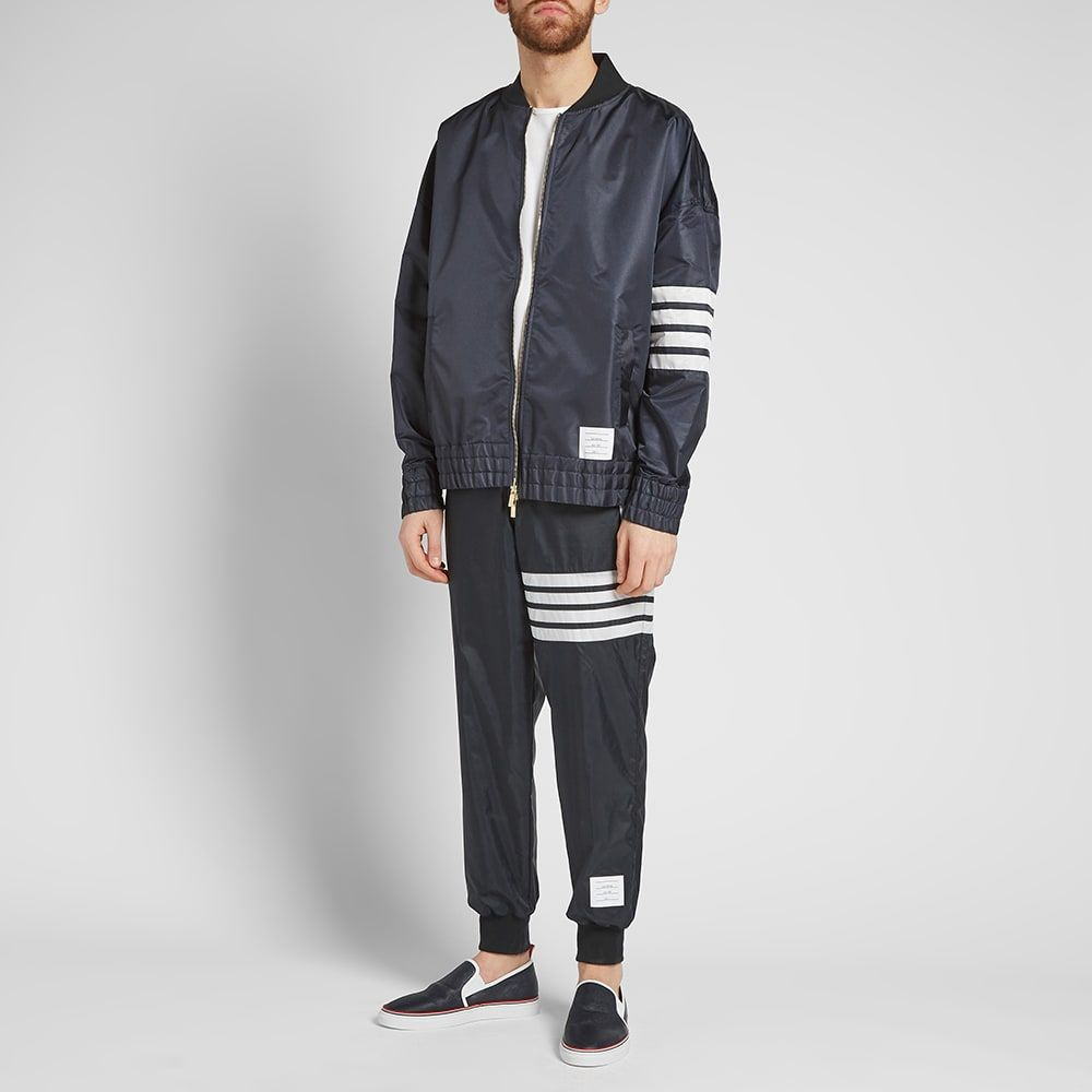 Thom Browne Oversized Bomber At End Adidas Jacket Mens Fashion Casual Athletic Jacket [ 1000 x 1000 Pixel ]