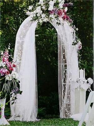 Decorative Metal Wedding Arch - White - 55\