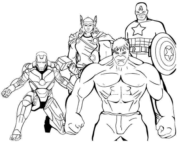 Superhero Avengers Coloring Pages Printable Preschool