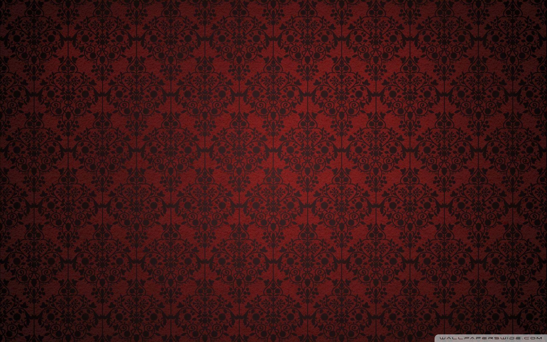 Red Damask Hd Desktop Wallpaper High Definition Fullscreen Red Wallpaper Red Damask Digital Wallpaper