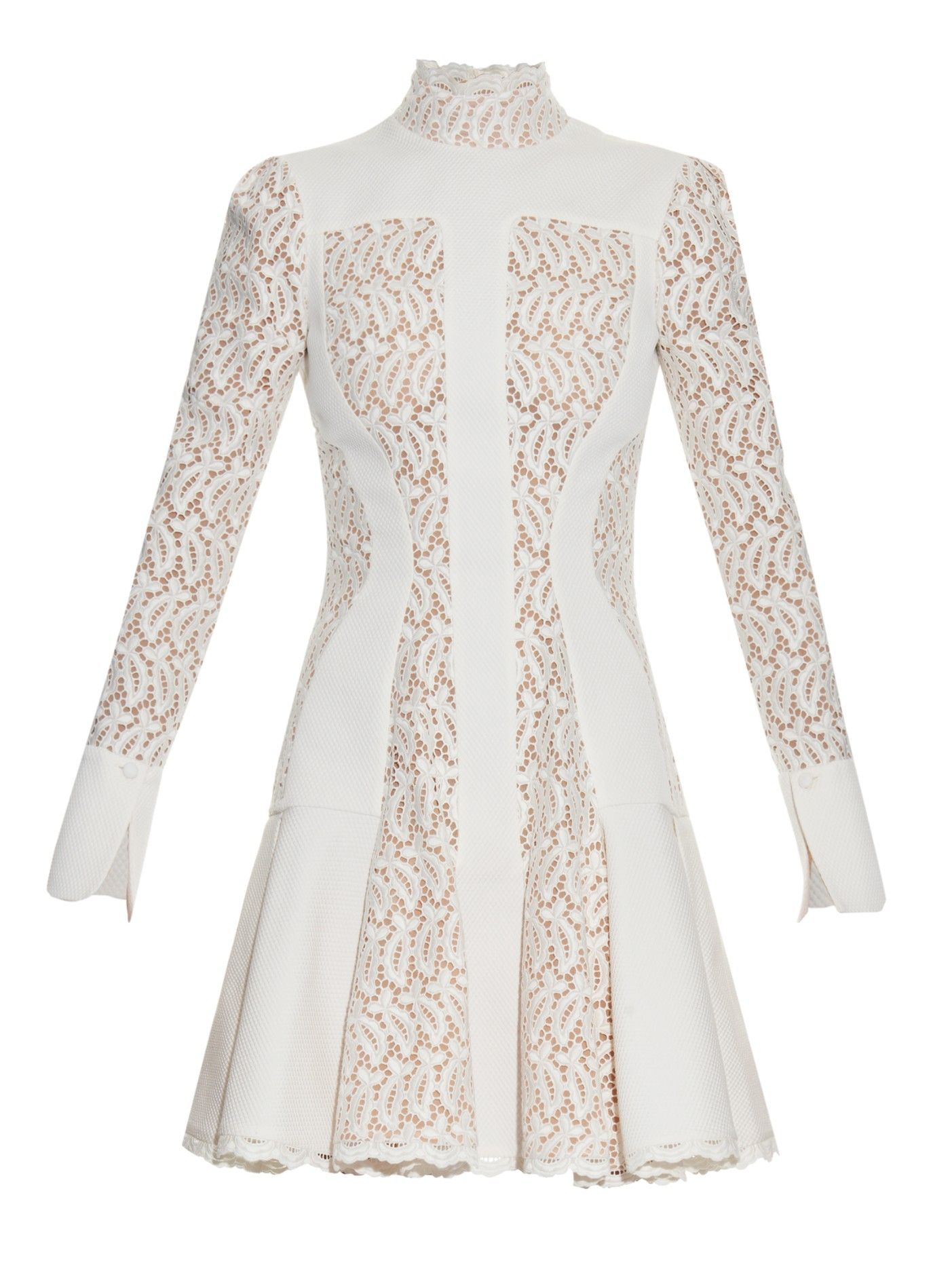 Dropped-waist lace dress Alexander McQueen UXiKHtz