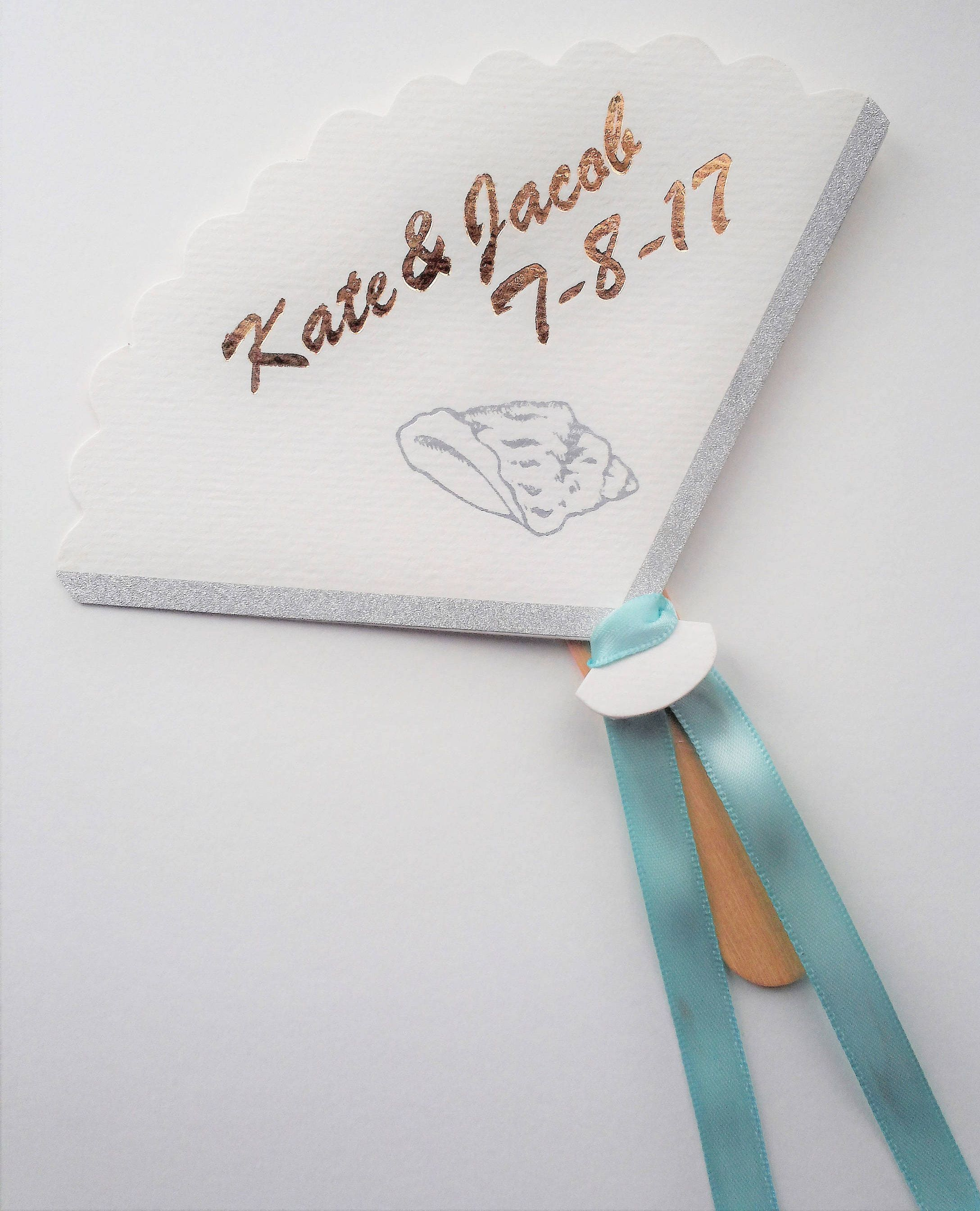 Personalized paper hand fan - set of 10 by nicegifts on Etsy ...