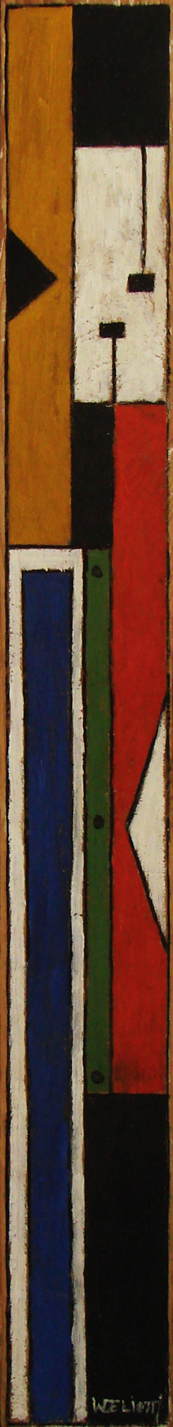 Walter Deliotti - escultura madera y óleo   Taller  Torres García
