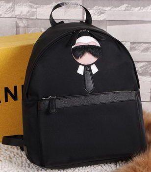 b9bd39fda9bb9 Tas Branded Semi Ori Fendi Backpack Karlito Nylon Medium Hitam SO2359