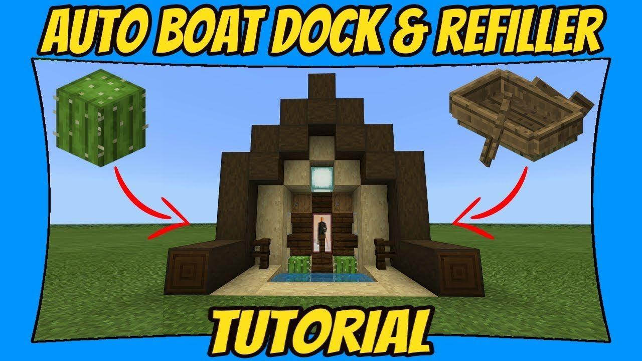 Automatic boat dock refiller tutorial minecraft bedrock