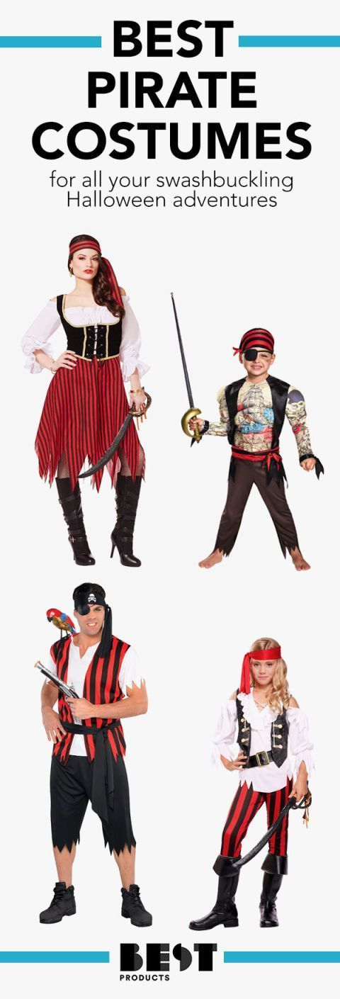 Pirate Costumes for All Your Swashbuckling Halloween Adventures #diypiratecostumeforkids pirate Halloween costumes #diypiratecostumeforkids