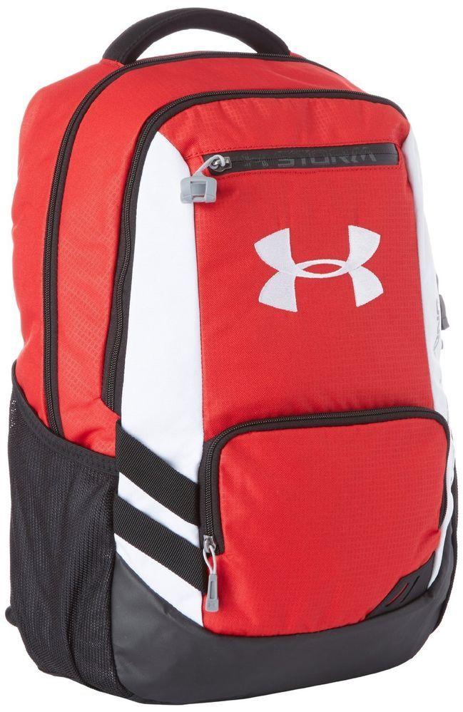 Under Armour UA Hustle Storm Backpack Book Bag Rugged BACK TO SCHOOL   UnderArmour  Bookbag 90a2afa7e7333