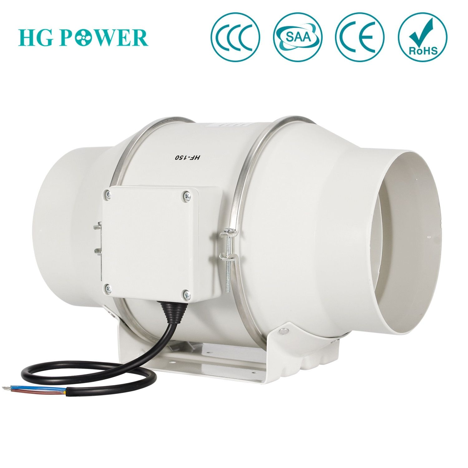 6 150mm High Efficiency Inline Duct Fan Exhaust Fan Mixed Flow Hydroponic Air Blower For Home Bathroom Gr Greenhouse Ventilation Exhaust Fan Fans For Sale