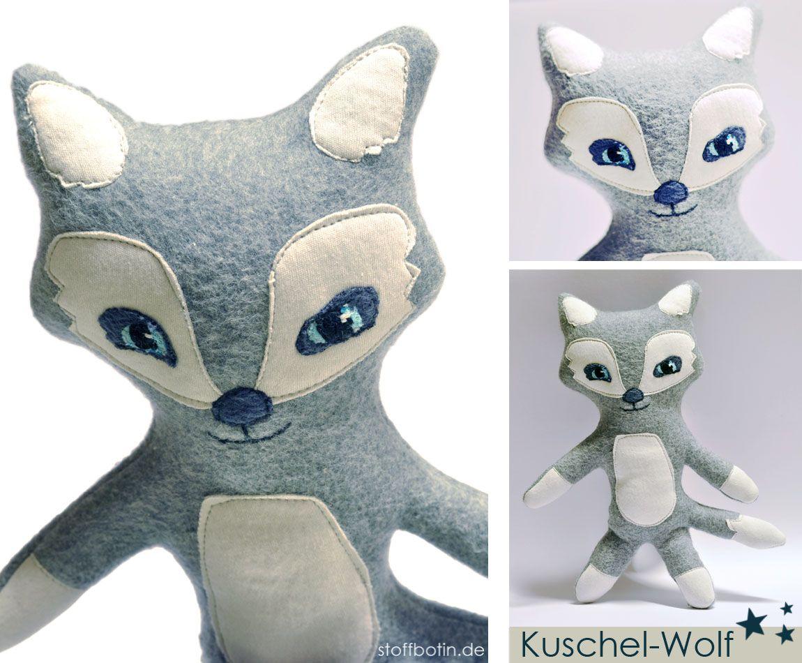 Kostenlose Nähanleitung / Schnittmuster Kuscheltier Wolf Wolf Softie ...