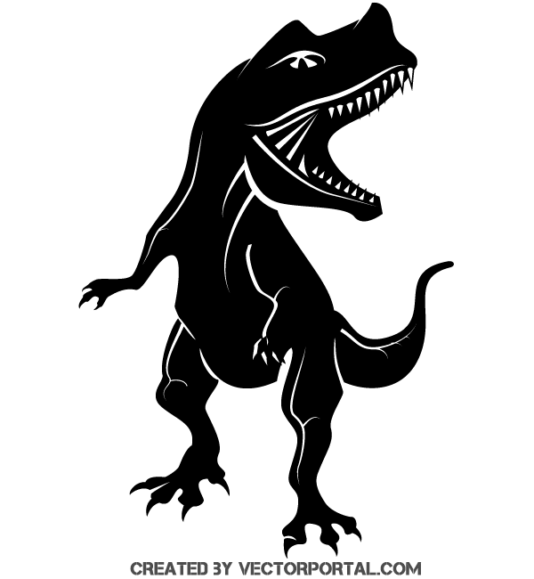 free dinosaur silhouette vector clip art image.. more free vector