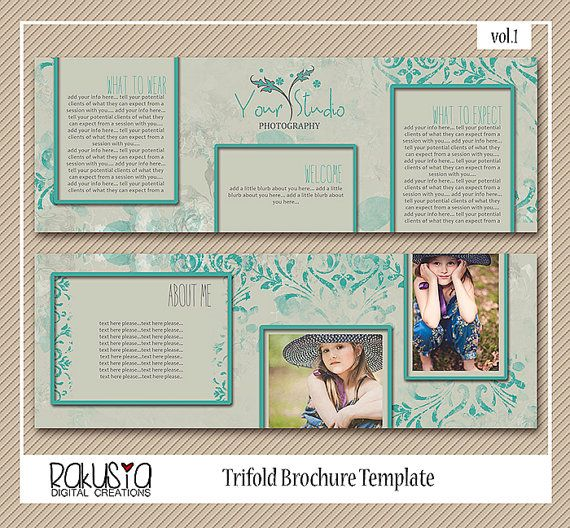 Trifold Marketing Brochure 5x5 card template by RakusiaDesigns
