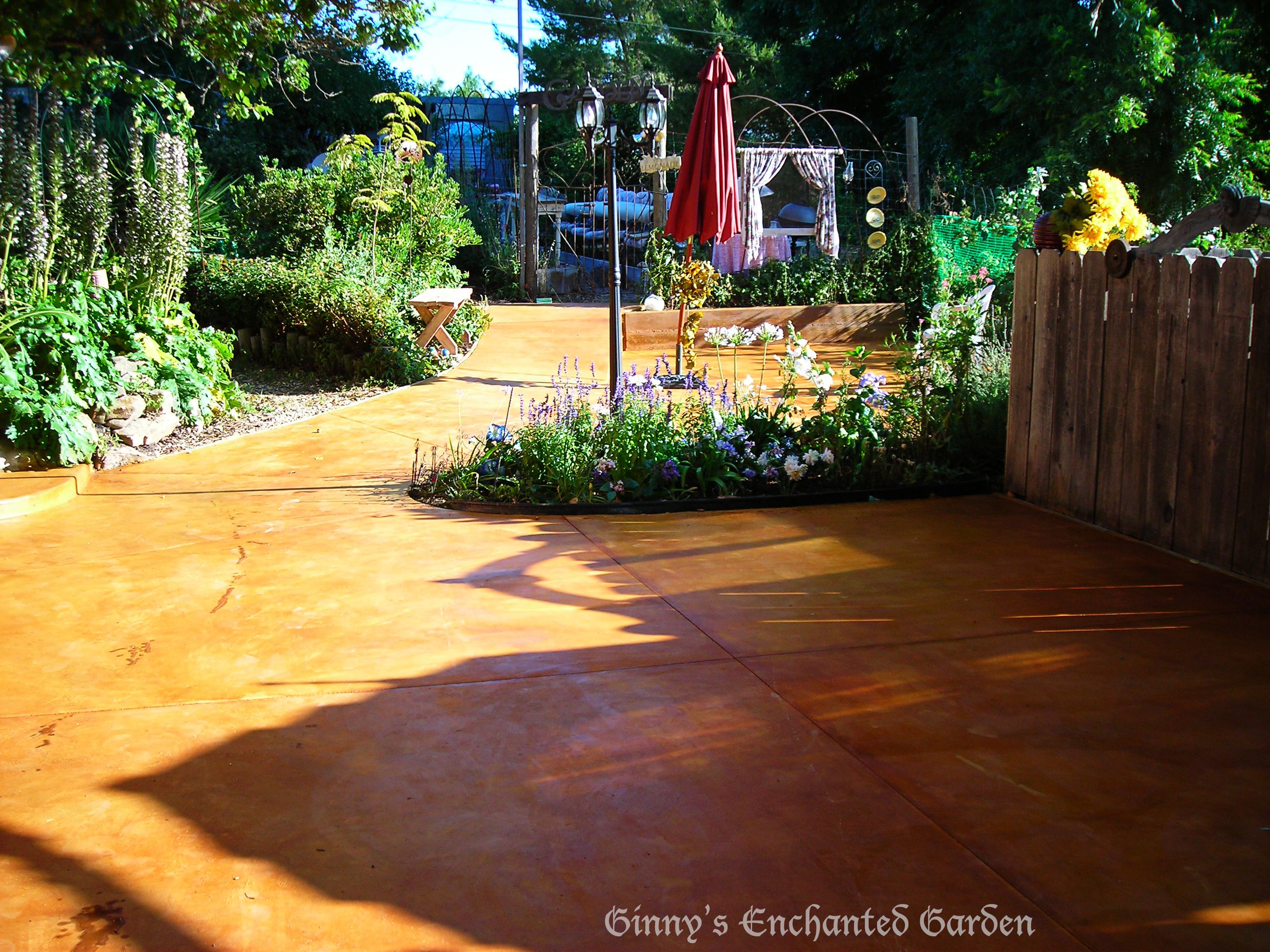 i had a concrete patio poured and stained it with ferrous sulphate