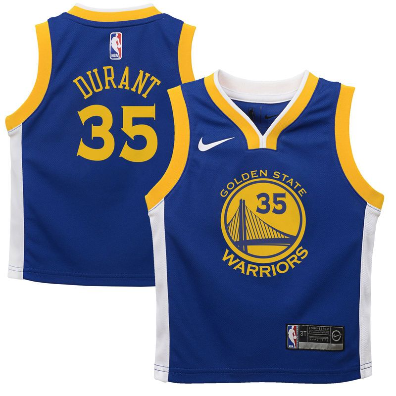 9617e88e7 Kevin Durant Golden State Warriors Nike Toddler Replica Jersey Blue - Icon  Edition
