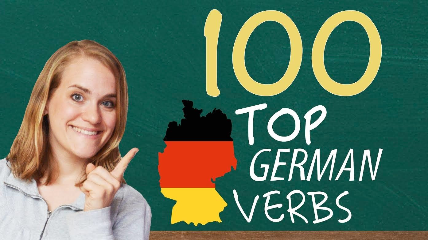 german lesson the top 100 german verbs a2 1 2 3 a b c german language learning. Black Bedroom Furniture Sets. Home Design Ideas