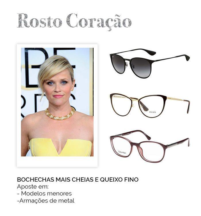 Modelos de óculos para cada rosto - Rosto Coração   Perfeito para ...