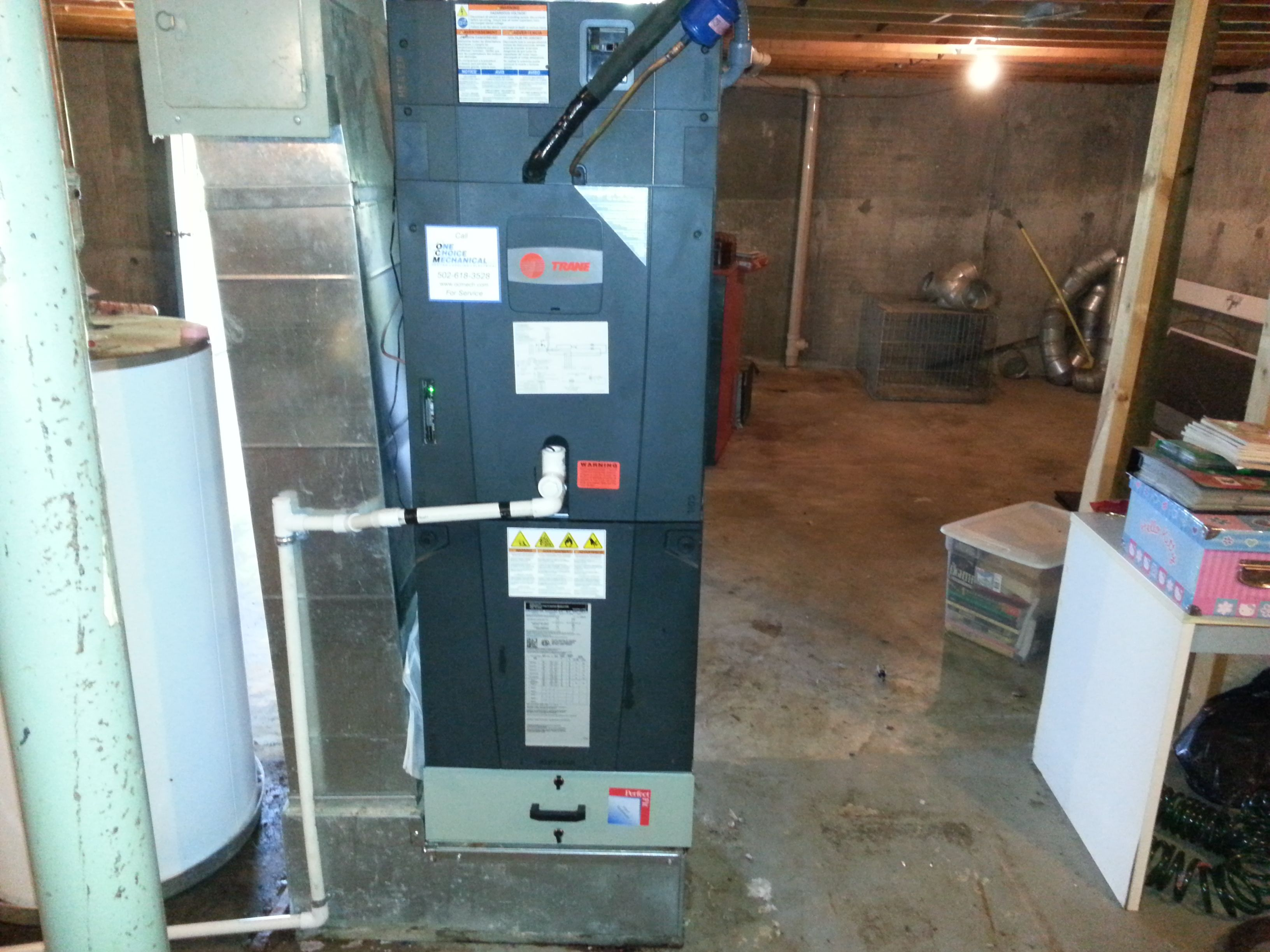 Change out; Trane furnace & evaporator installation