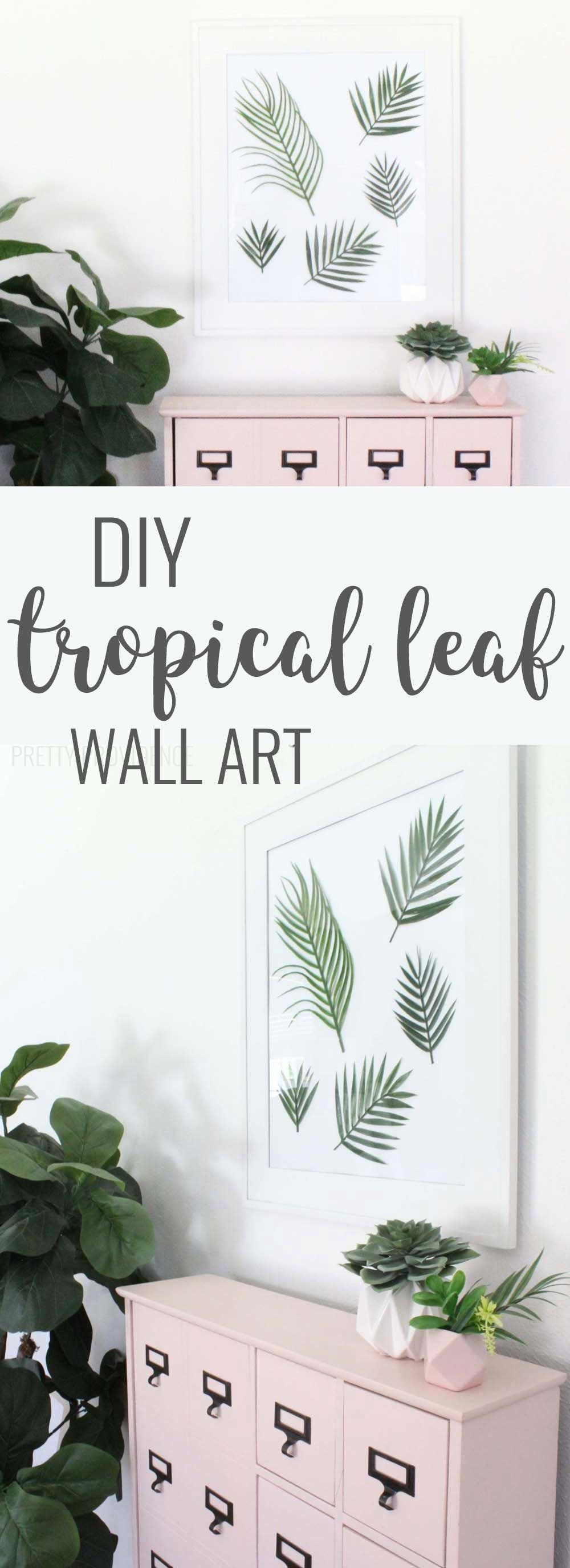 Diy tropical leaf wall art leaf wall art leaves and walls