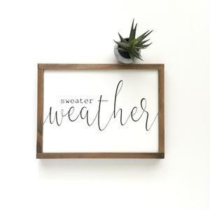 Sweater Weather #winterdecor