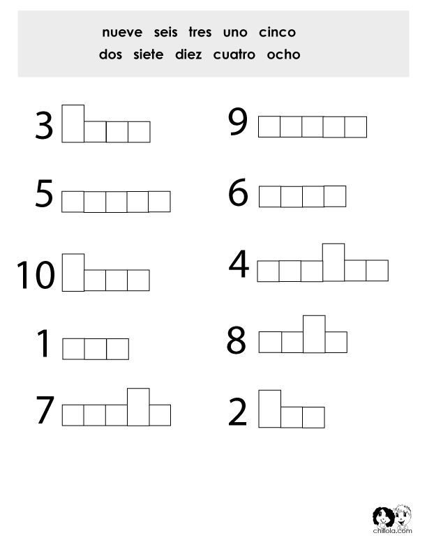 Number Worksheet Spanish | Teaching Spanish To Kids | Spanish ...