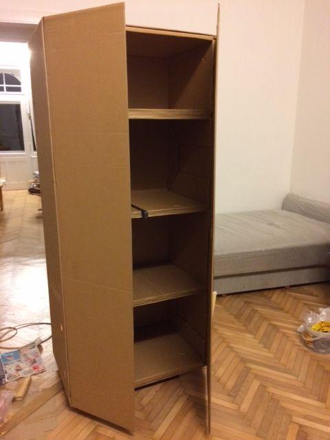 Cardboard Cupboard sofa packaging | Cardboard furniture, Diy