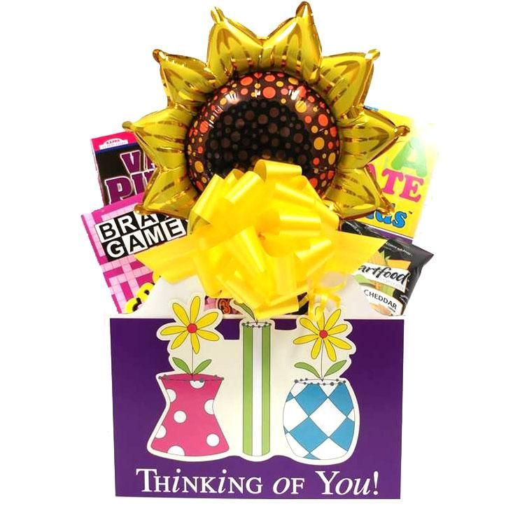 Thinking of You Gift Basket for Women with Puzzle Books