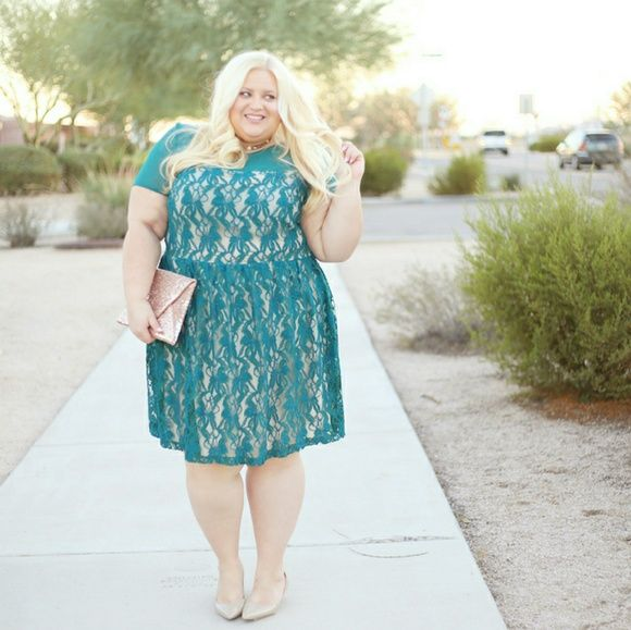Photo of Green lace dress Non stretch From Nordstrom Size 22 Worn for photo shoot Nude…