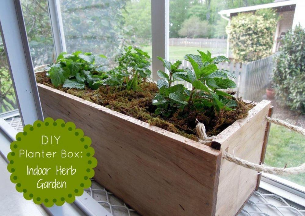 Diy Planter Box Herb Garden Diy Howto Doityourself Love Like