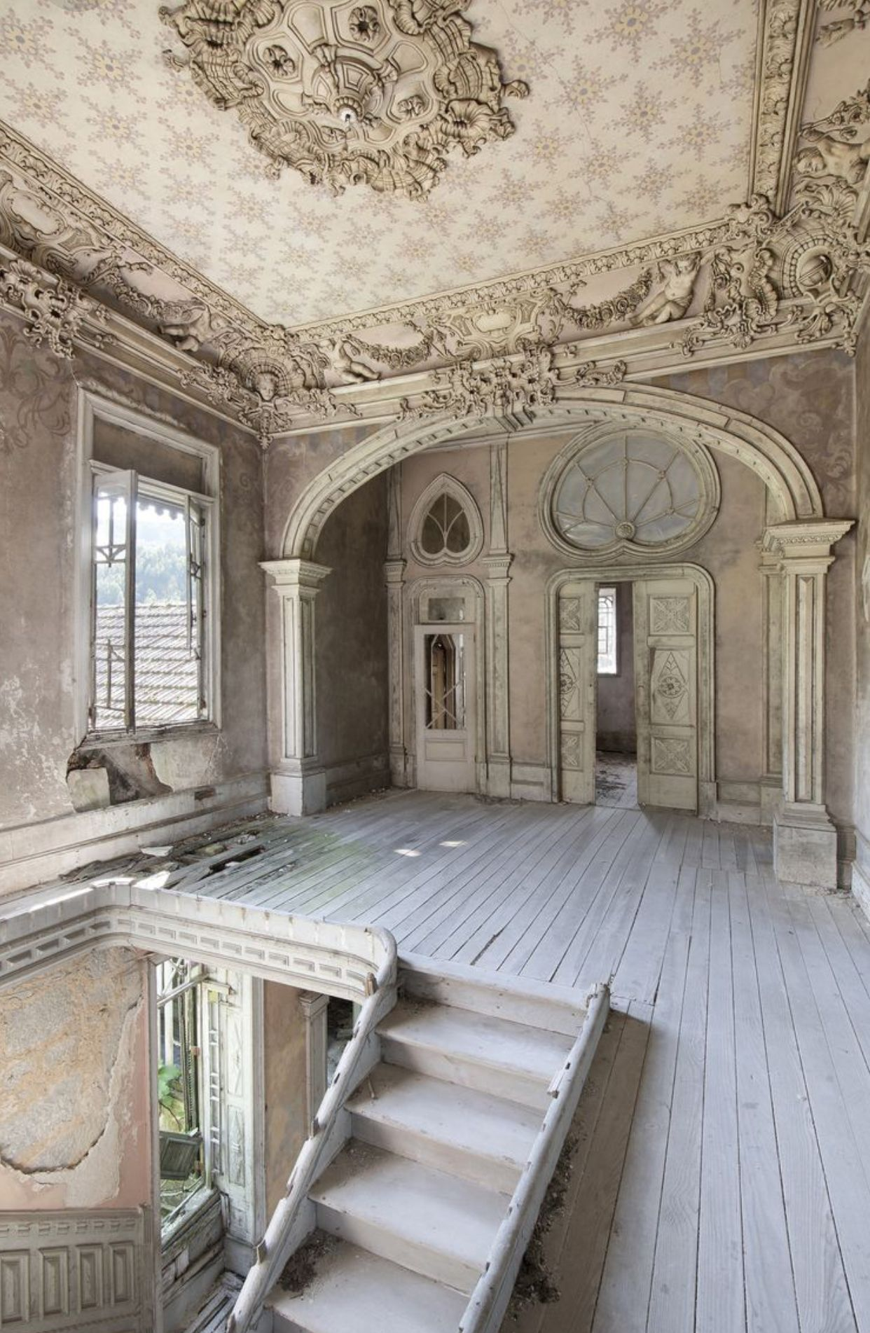 Old but look at the detail in the design #abandonedplaces