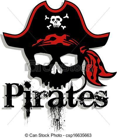 Pirates Logo Skull Vector - pirates skull...