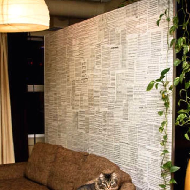 Wallpaper Made From Old Sheet Music...this Is Our Plan For