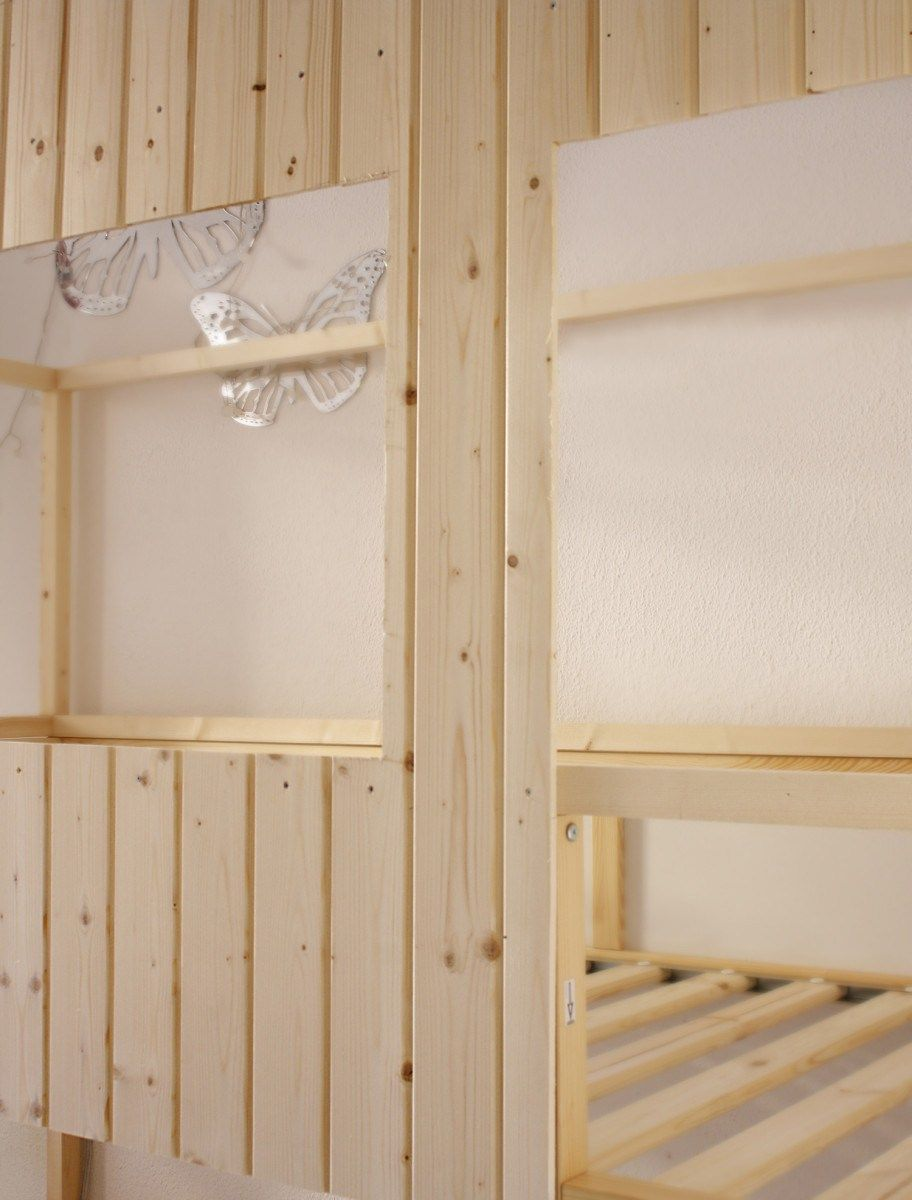 DIY Wood house with Kura beds IKEA Hackers Kura bed
