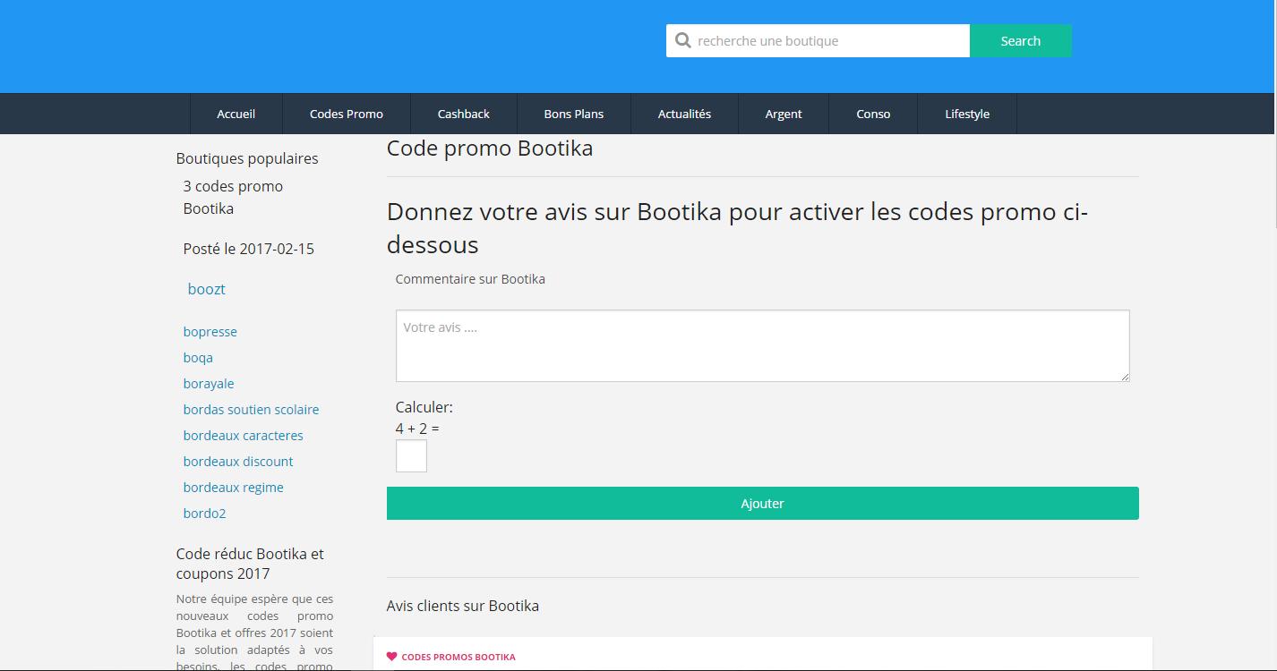 couponreduc.top sélectionne pour vous les derniers codes remises bootika du moment  pour vous faire 95b190b3cbd7