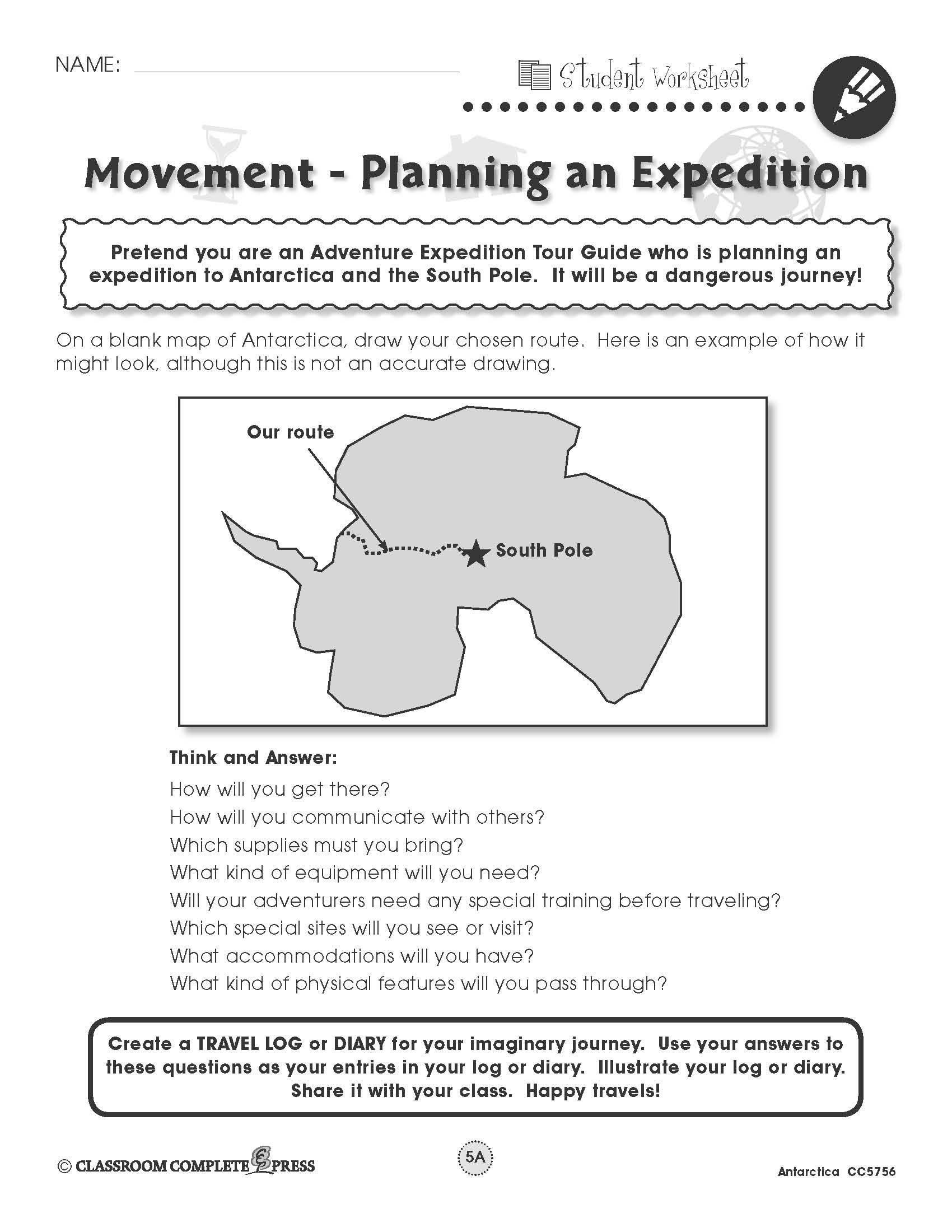 Plan An Expedition To Antarctica With This Free Activity From Ccp Interactive A Division Of Classroom Complete World Geography Geography Homeschool Geography
