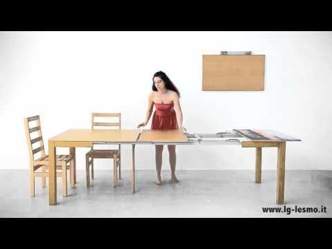 Tavolo Allungabile Lg Lesmo.Youtube Space Saving Furniture Extendable Dining Table Table