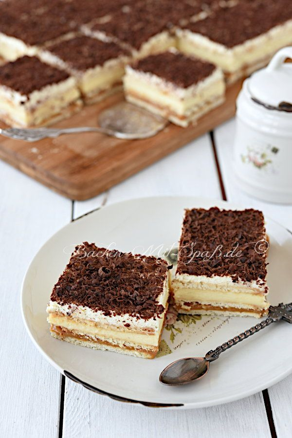 Photo of Shortbread caramel cream slices – recipe