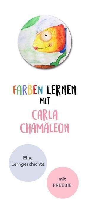 farben lernen mit carla chamäleon lerngeschichte