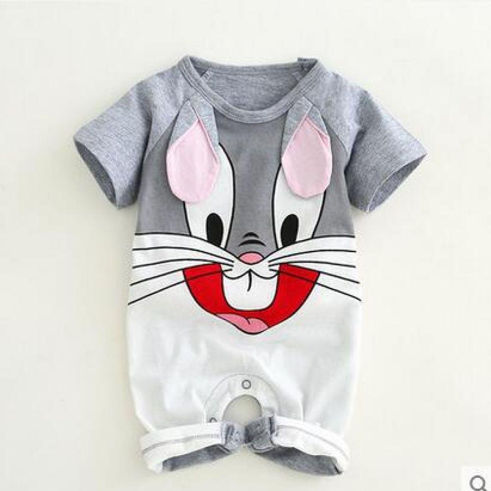 7ae1bbe28034 Newborn baby cotton rompers lovely Rabbit ears baby boy girls short ...