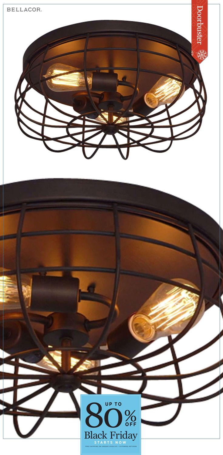 Cyber Monday Deals Continue The Millennium Lighting Neo Rubbed Bronze Three Light Flush