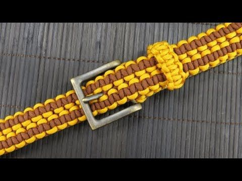 How to make a Rattlerstrap Wide Solomon Paracord Belt - YouTube