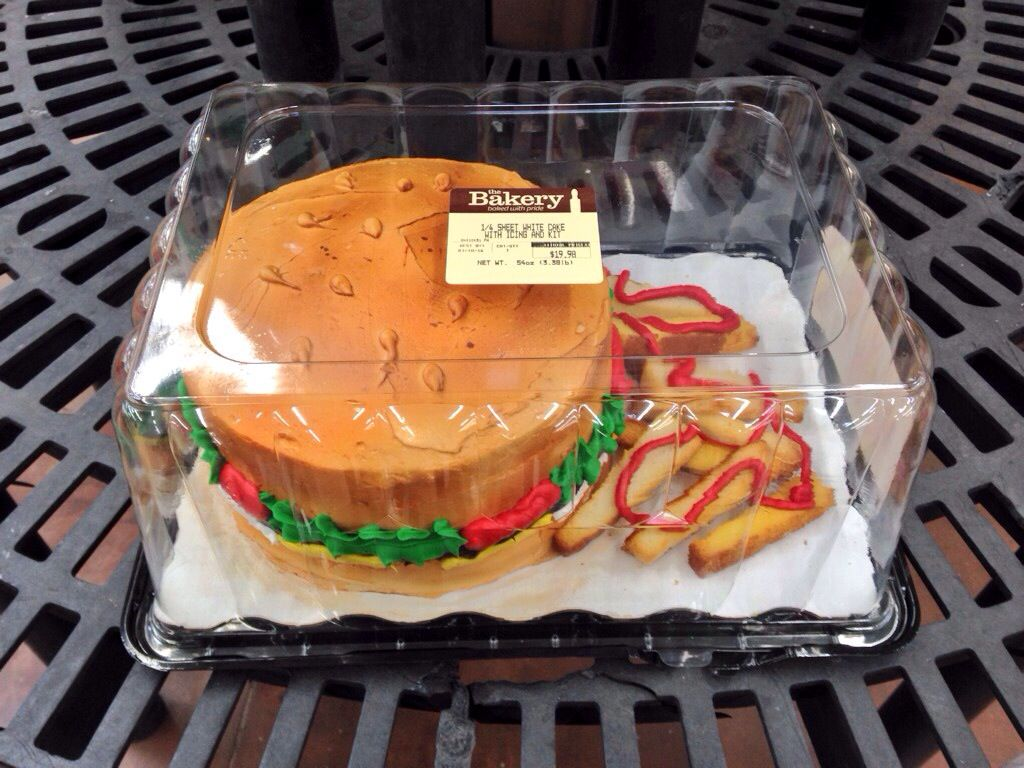 A Burger Cake At Walmart Cookies Cakes Take Out