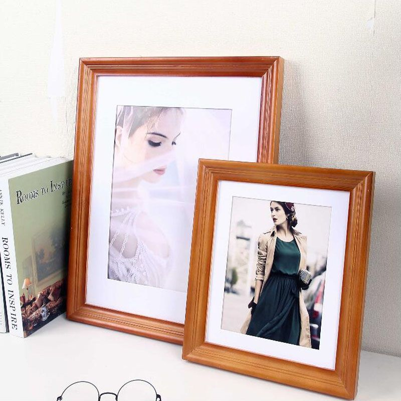 High Quality Wooden Photo Frame 7 10 12 Inch Picture Frames Marco For Wall Or Desk Frame Xmas Birthda Wooden Photo Frames Picture Frames Quality Picture Frames