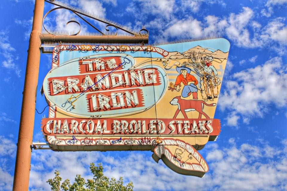 The Branding Iron Vintage Neon Signs Retro Sign Vintage Signs