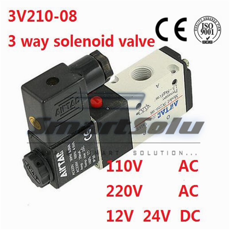 Free Shipping 1 4 Pneumatic Electromagnetic Solenid Valve 3 2 Way Dc 12v 3v210 08 Control Valves Valve Plumbing