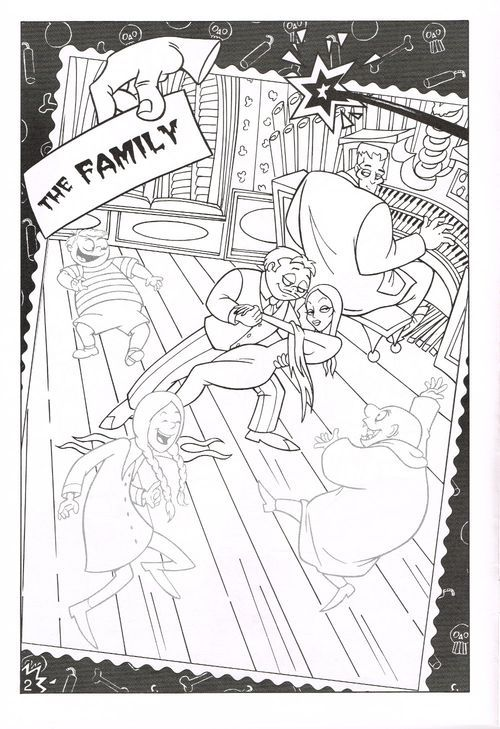 Golden The Addams Family Sticker Fun | Coloring books ...