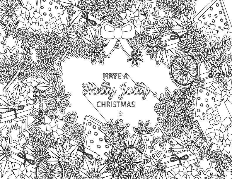 Épinglé sur Coloriage de Noël   Christmas coloring page