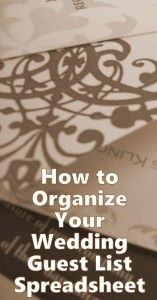 Wedding Planning Two Organizing Your Wedding Guest List