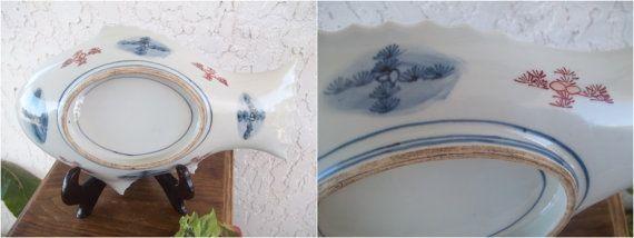 Imari Plate Nanban 紅毛 Dutch Large Sakana by GuamAntiquesNstuff