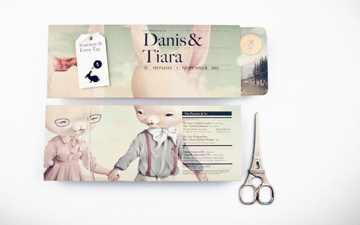 The Rabbit and the Monday Misfits Packaging design, Design - wedding invitation design surabaya