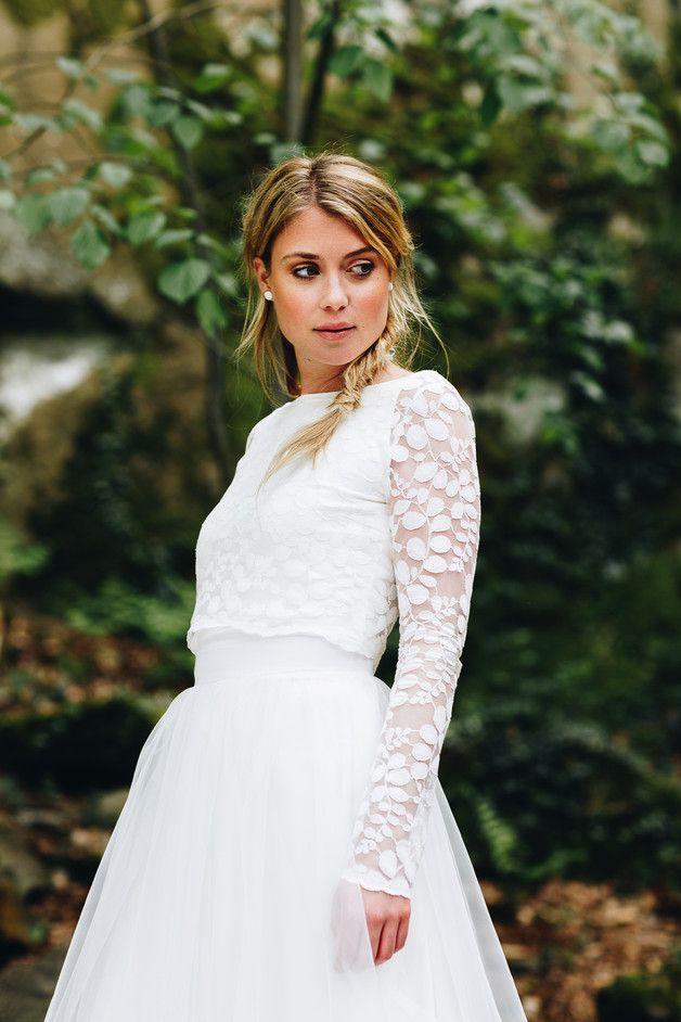 Spitzentop aus Botanik-Spitze für die Hochzeit | Wedding dress and ...